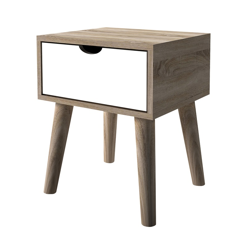 LPD Furniture Scandi Oak Lamp Table White White Lamp Table Image0 Image