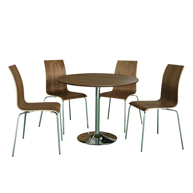 LPD Furniture Soho Dining Set Walnut Veneer Walnut Dining Set Image0 Image