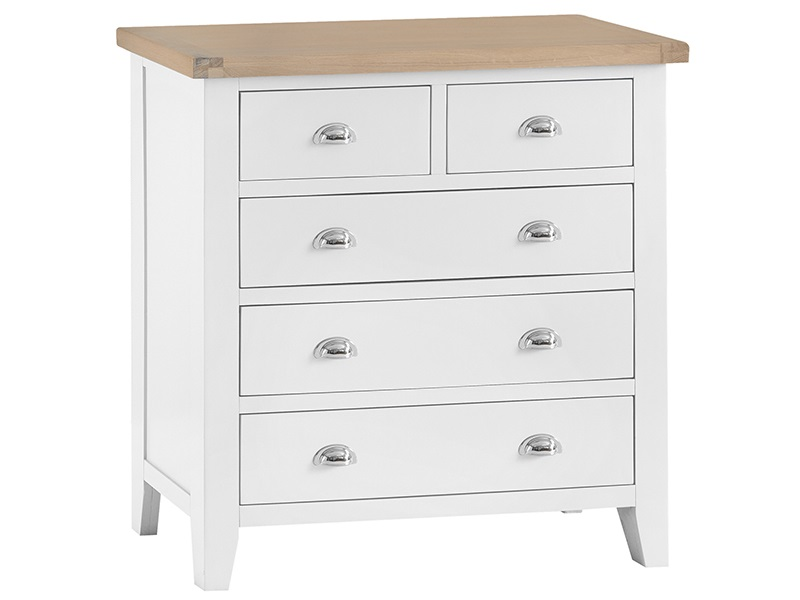 Westpoint Mills Southwold White 2 over 3 Chest Drawer Chest Image0 Image