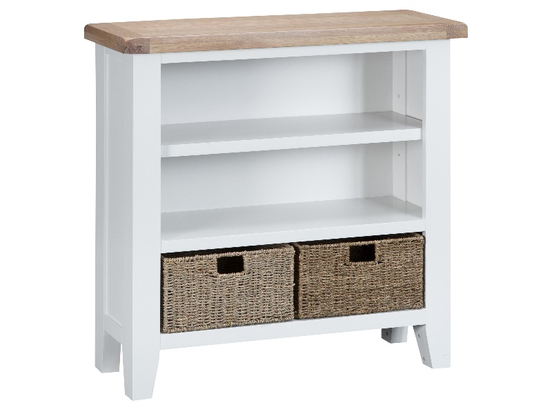 Southwold Small Wide Bookcase White Image0 Image