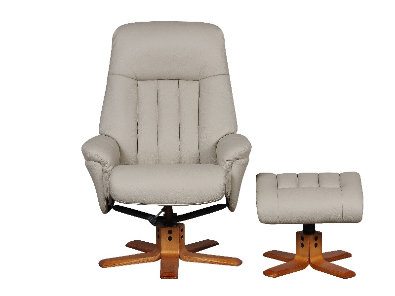 St. Tropez Swivel Recliner Chair and Stool Image0 Image