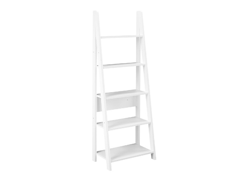 LPD Furniture Tiva Ladder Bookcase 2\' 6 Small Single White Bookcase Image0 Image