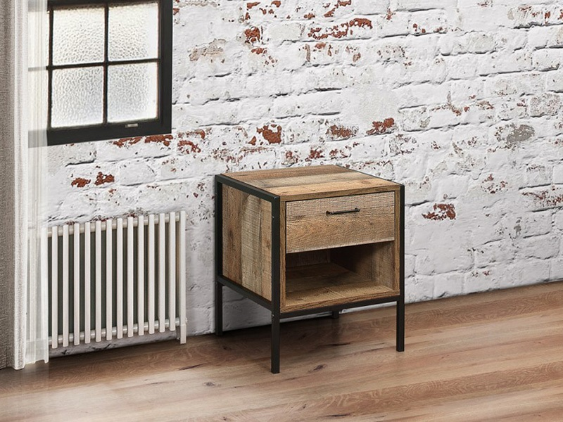 Urban 1 Drawer Bedside Rustic Main Image