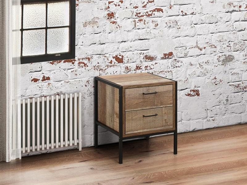 Urban 2 Drawer Bedside Rustic Main Image