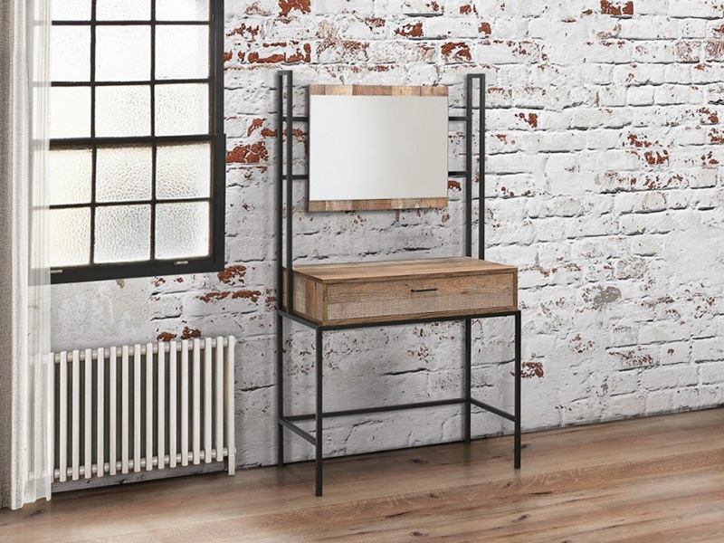 Urban Dressing Table and Mirror Rustic Image0 Image