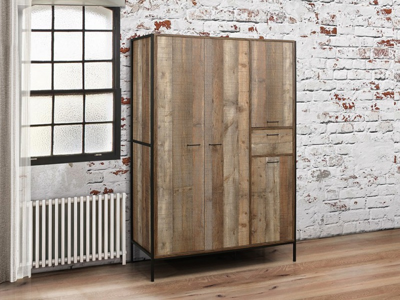 Urban 4 Door Rustic Wardrobe Main Image