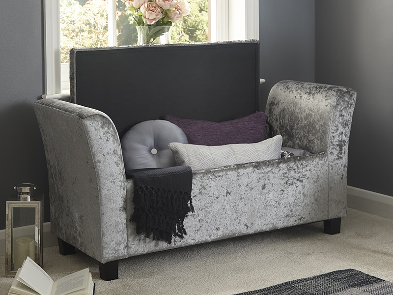 GFW Verona Window Seat Crushed Grey Blanket Box Image0 Image