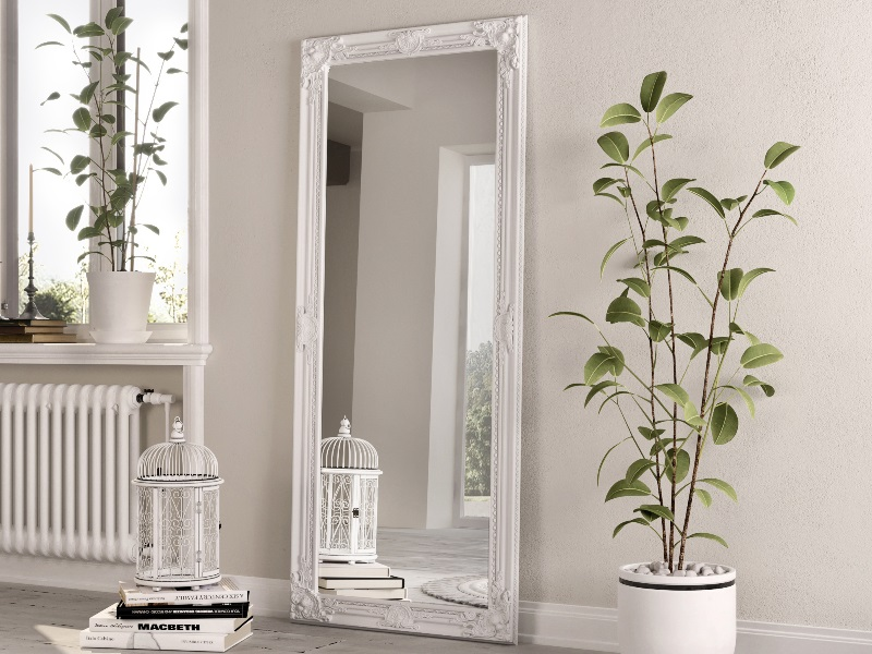 White Wooden Standing Mirror Image0 Image