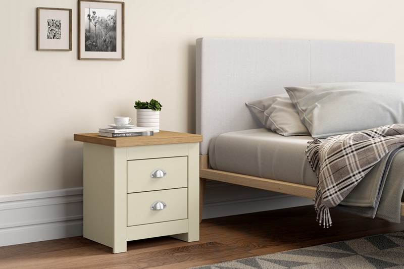 Birlea Winchester 2 Drawer Bedside Cream Bedside Chest Image0 Image