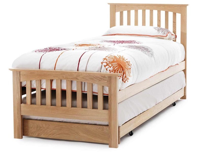 Serene Furnishings Windsor Guest Bed 3\' Single Honey Oak Stowaway Bed Image0 Image